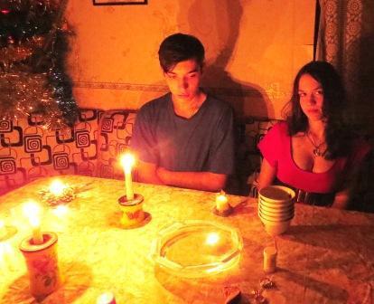 Рождество. Низам и Оля гадают