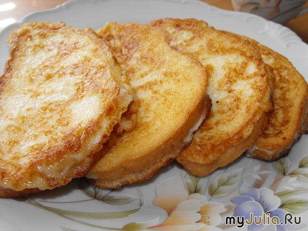 Как пожарить хлеб с яйцами с фото