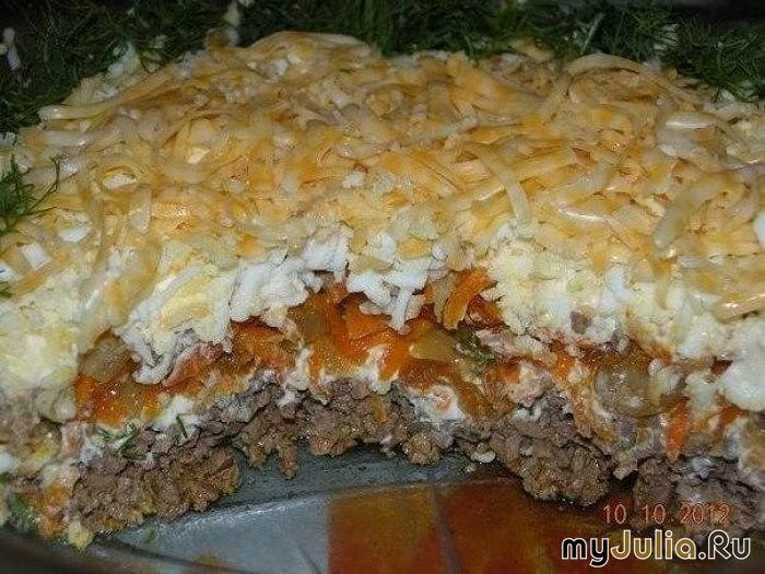 салаты с печенью слоями рецепты