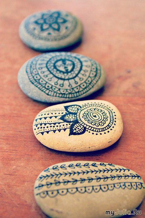 Как сделать на камнях узоры