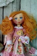 Текстильная коллекционная кукла Алиса