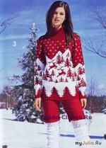 Пуловер с жаккардовым мотивом