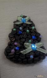 Подарок своими руками - кофейный магнит или панно