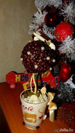 Дерево счастья из кофейных зерен к Новому году