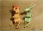 Обезьянка из газетных трубочек.  Плетение от автора Пустельга