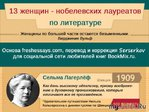 Женщины-писатели –лауреаты Нобелевской премии