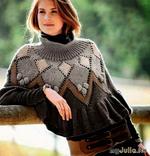 Красивое пончо и не менее красивая юбка