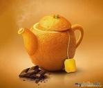 Апельсиновый чай с корицей