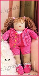 Как связать одежду для вальдорфской куклы