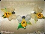 МК: Пчёлка из органзы и ленты