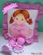 Детские подушки-куклы с росписью акриловыми красками. Шаблоны