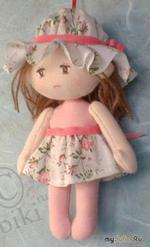 Текстильная кукла. Изготовление, мастер-класс, схема выкройки