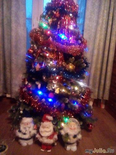 Большая елка в зале.