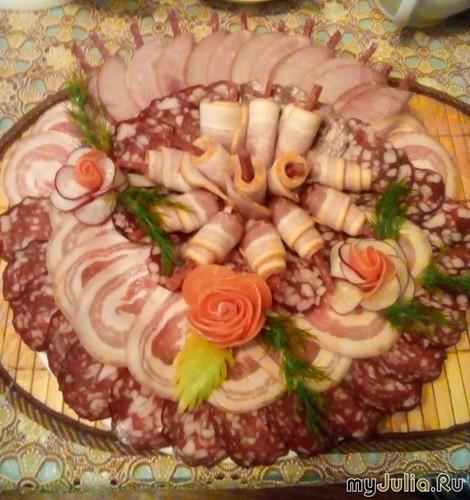"""мясная тарелка """" Юбилей"""""""
