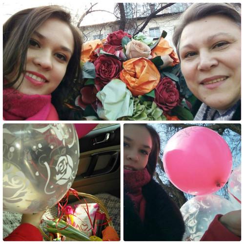 Дочь поздравила с 8 марта