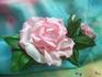 """Зажим  для  волос  с  розами  из  фоамирана  """"Первая  любовь"""""""