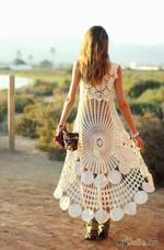 Белый павлин от Miss June - платье крючком