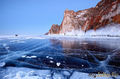 Мыс Саган-Хушун и скала Три Брата, озеро Байкал, остров Ольхон
