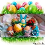 Вязаные подставки для пасхальных яиц.  Автор: Чепикова Елена