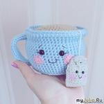 Вязаная чашечка с чаем  Автор описания    Татьяна