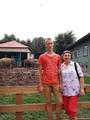 С внуком Лёшей в зоопарке