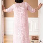 Платье для солидных дам, в филейной технике.
