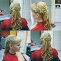 Прическа на длинные волосы