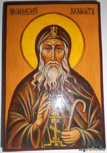 Св.Преподобный Далмат Исетский. Список освящен в Троицком соборе.