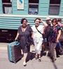Встречала Люду из Москвы