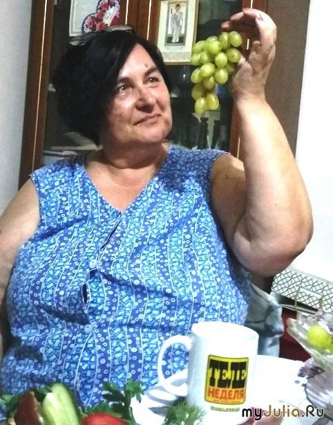 """""""Лиса"""" (Люда, Руслёна у меня в гостях) и виноград."""