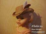 Три шляпки для куклы на основе одной универсальной заготовки. Вязание крючком