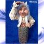 Баба Яга в ступе кукла копилка 1