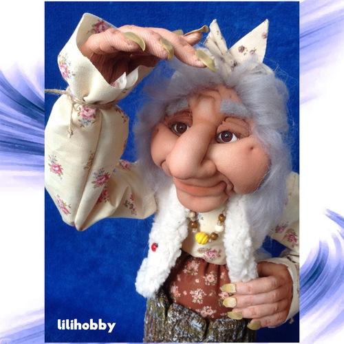 Баба Яга в ступе кукла копилка