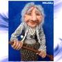 Баба Яга в ступе с метлой кукла копилка 5