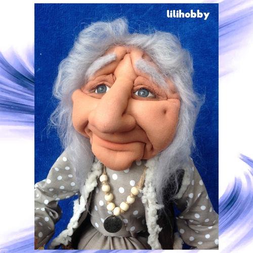 Баба Яга в ступе с метлой кукла копилка 4