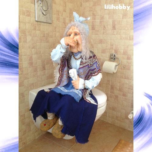 Баба Яга кукла интерьерная 1