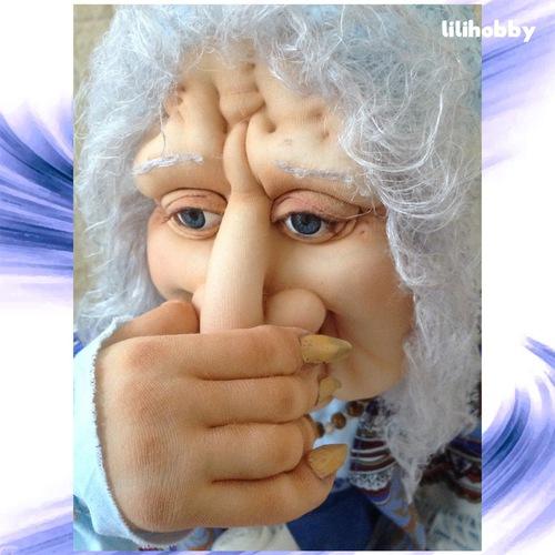 Баба Яга кукла интерьерная 2