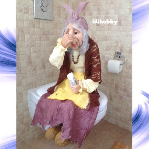 Баба Яга кукла интерьерная 3