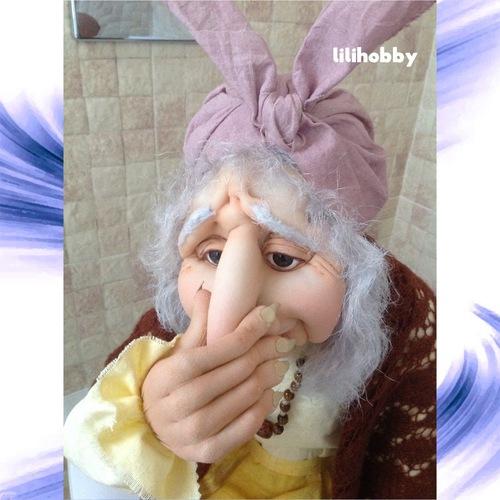 Баба Яга кукла интерьерная 5