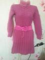чистошерстяное платье свитер
