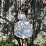 """Платье """"Белый лотос"""" крючком."""