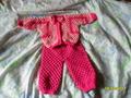 костюм для внучки из шестигранников