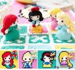 Плед и куклы для девочки крючком схема
