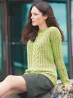 Пуловер с горловиной-лодочкой