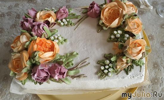 Торт на день рождения. Швейцарская меренга.