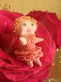Текстильная кукла-малышка Фея Роза