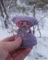 Текстильная кукла-малышка Фея на зимней прогулке