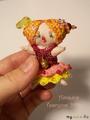 Текстильная кукла-малышка Клоунесса