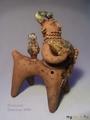 Керамическая свистулька Китоврас с рыбой