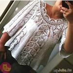 Ажурная блузочка, которая запоминается своей красотой